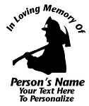 Memorial Firefighter Decal Sticker